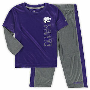 Kansas State Wildcats Colosseum Toddler Bayharts Long Sleeve T-Shirt and Pants