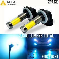 Alla Lighting Led 898 881 Fog Light Bulb Driving Lamp,Pure Bright Light Blue,2Pc(Fits: Neon)