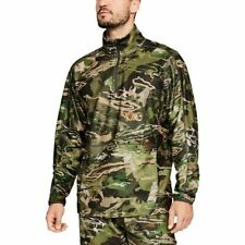 Under Armour Zephyr Fleece Camo 1/4 Zip Up Pullover Sz Large L NEW 1316863 940