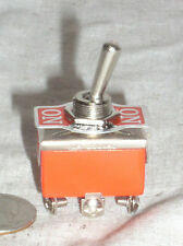 1 DPDT ON-OFF-MOMENTARY HIGH POWER TOGGLE SWITCH 15 A AMP 15A SPRING ONE WAY USA