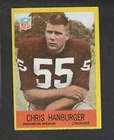 1967 Philadelphia #183 Chris Hanburger EX/EX+ RC Rookie Redskins 158496