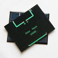 2/4/8 Pcs Lot Solar Cell panel Watt for battery charger backpack power 115x 90mm