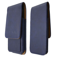 caseroxx Flap Pouch voor BlackBerry Priv in blue gemaakt van real leather