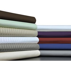 Soft Bedding 1000TC Egyptian Cotton 1 PC Bed Skirt US Size Solid/Striped Colors