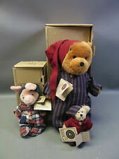 (2) Boyds Bears The Mohair Collection Winnie The Pooh & Piglet w/ Boxes
