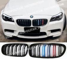 BMW 5,2010-17,F10/F11,saloon/estate,double bar,M5 look grill,BLACK+M 3/tri-color