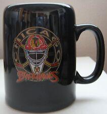 Chicago Blackhawks Coffee Mug Helmet Hockey Sticks Logo NHL Black Cup