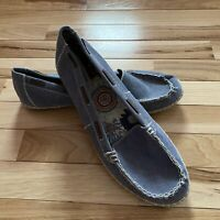 Hush Puppies Acid Blue Wash Canvas Loafer Espadrille Flats SlipOn Shoes Women 12