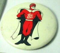 """Vintage Pinback Pin Button Early Bud Man Budweiser Beer 3"""" diameter"""