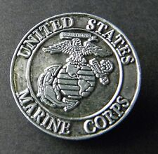 US MARINE CORPS USMC MARINES PEWTER LAPEL PIN BADGE 1 INCH