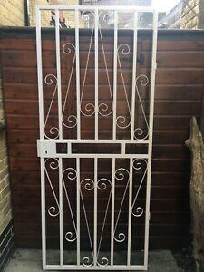 steel security door gate with frame