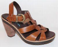 TIMBERLAND SCHUHE echt LEDER SANDALEN leather SHOES 39 39,5 PUMPS COGNAC Braun