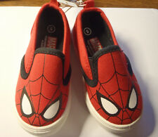 Marvel Spiderman Size 5 Slip On Canvas Tennis Shoes Nwt