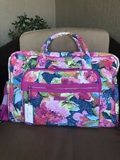 NWT Vera Bradley Iconic Weekender Travel Bag Carry-on in Superbloom floral