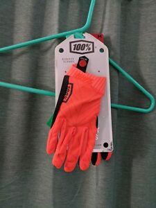 Ridefit 100% Gloves Orange/Black Size Medium