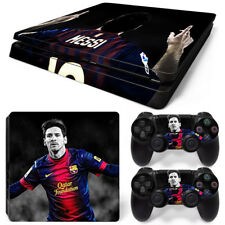 PS4 SLIM Console Lionel Messi Decal Wrap Vinyl Sticker + 2 Controller Skins Set