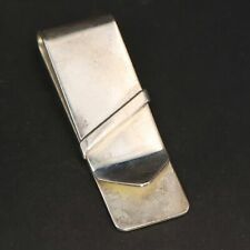 Solid Money Clip - 19.5g Sterling Silver - Italy Modern Striped