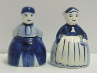 "Vintage DELFT MAN & WOMAN SALT & PEPPER SHAKERS 2 3/8"""
