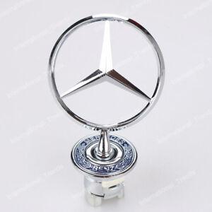 NEW Chrome Front Hood Ornament Emblem for Mercedes Benz 300E C E S W Series