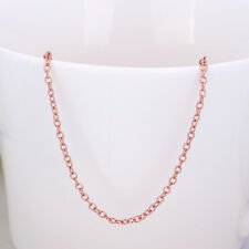 Womens fashion Rose Gold Filled retro 20 inch Long Necklace jewellery