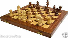 "Wooden Folding Chess Board Box (Sheesham Wood)""16x16"" And Coins & Box,Gift item"