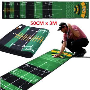 NEU Golf Putting Matte 50*300cm Golfmatte Übungsmatte Außen/Innen Training Matte