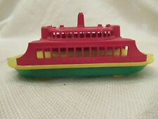 "1950s Pyro Usa Hard Plastic Auto Transport Ferry Boat 7 1/2"""