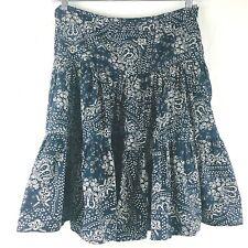American Living Skirt 8 Blue Bandana Tiered Prairie Western Cowboy Square Dance