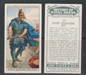 CIGARETTE CARDS Players 1930 History of Naval Dress - complete set