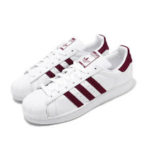 adidas Originals Superstar White Burgundy Men Classic Casual Shoe Sneaker EF9240