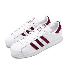 adidas Originals Superstar White Burgundy Men Classic Casual Shoe Sneaker EF9240