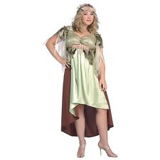 Mother Nature Greek Goddess Diana Costume Halloween Fancy Dress