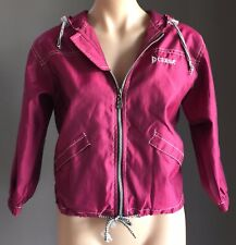 Pre-owned CERSA Lightweight Pink 3/4 Sleeve Softshell Hoody Jacket Size 38/AU10