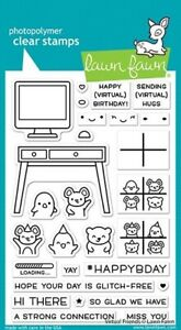 Lawn Fawn Virtual Friends Stamp Set       NEW       Premium Clear Stamps