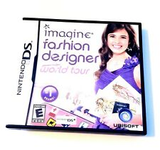 Nintendo DS Imagine Fashion Designer World Tour Video Game Tested Complete