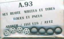 RUOTE 1/43 FIAT 127/128/RITMO/AUTOBIANCHI A112 e simili anni 1979/80 TRON  A093