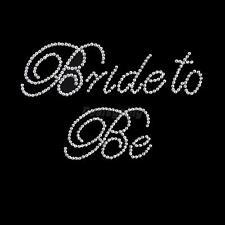 """Clear """"Bride to Be"""" Rhinestone Sticker for Bridal Wedding DIY Bachelorette"""