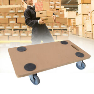 Wood 200KG Platform Dolly Trolley Removal Trolley Board With Wheels Warehouse