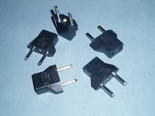 US to EU AC Power Plug Travel Converter Adaptor  Lot of 5