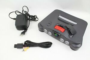 Nintendo 64 N64 Console Black Japan Tested Working NUSHA Expansion pack