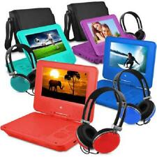 """Portable DVD Player 7"""" W/ Color Headphones And Travelling Bag Kids Entertainment"""
