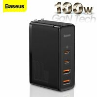 Baseus 100W USB Type-C Charger PD3.0 QC4.0 GaN Adapter for iPhone 12 Macbook Pro
