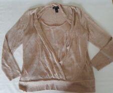 INC International Concepts Long Sleeve Metallic Sweater Size O/S A5