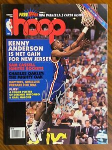 1995 NBA HOOP Magazine Autographed Kenny Anderson Cover New Jersey Nets