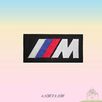 M Power BMW Car Brand Logo Embroidered Iron On Patch Sew On Badge Applique