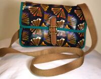 AUTHENTIC FOSSIL WOMEN'S CROSSBODY MULTI COLOR CANVAS HANDBAG