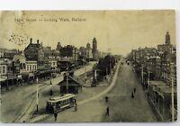 Vintage Real Picture Postcard Sturt Street West Ballarat Australia Collectable
