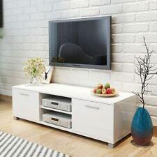 vidaXL 120x40,3x34,7 cm Meuble TV à Haute Brillance - Blanc