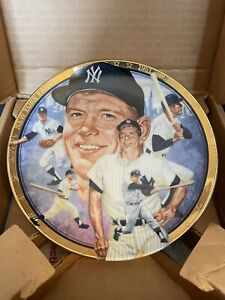 Sports Impression Hamilton Collection Mickey Mantle plate Plate # 3655CC Yankees