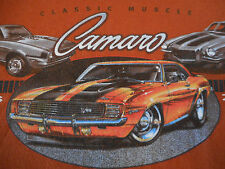 T Shirt Camaro Orange and Black 2XL  SS Classic Muscle Car  Chevy zorfd2